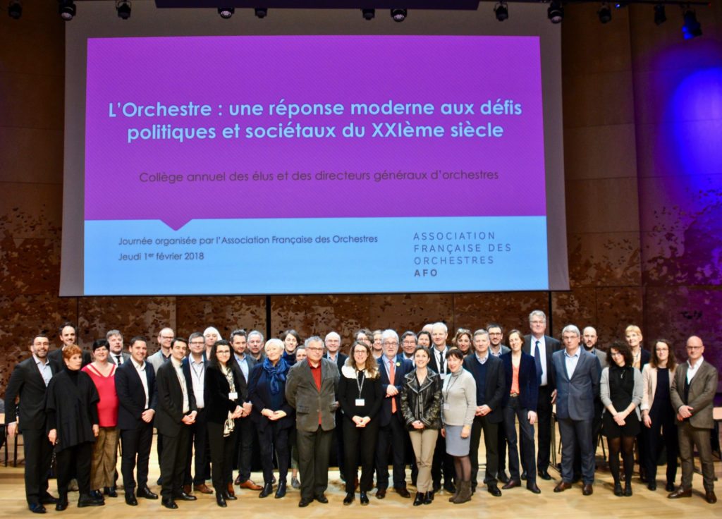 Photographie en référence au programme : Collège annuel des élus et directeurs généraux d'orchestre